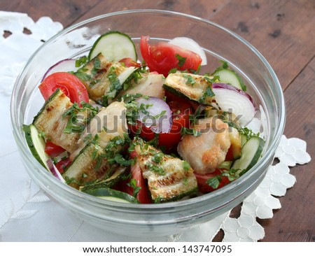 salad with zucchini