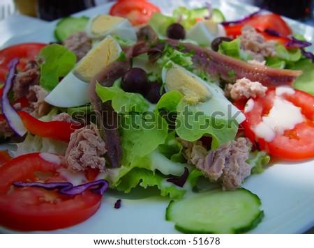 salade nicoise - stock photo