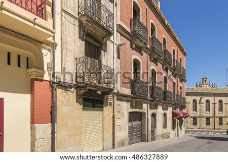 SALAMANCA - MAY 16 : Historic quarter on May 16, 2015 in Salamanca city, Spain.