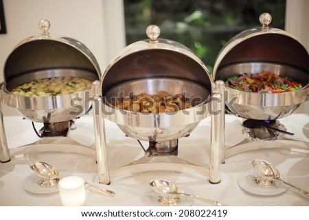 Salamander hotel buffet - stock photo