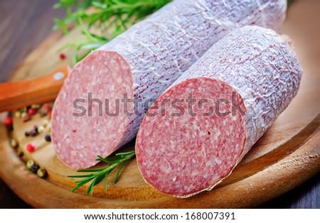 salami - stock photo