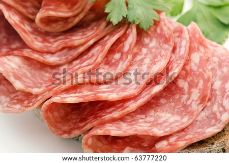 Salami Bread - stock photo