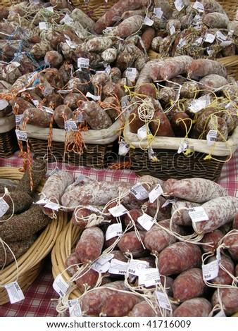 Salami in france - stock photo