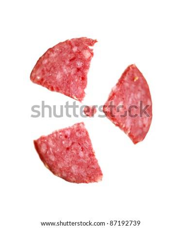 salami radiation sign concept - stock photo