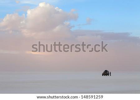Salar de Uyuni - stock photo
