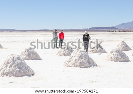 Salar de Uyuni, Bolivia - stock photo