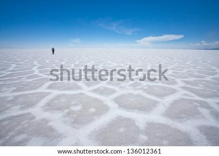 Salar de Uyuni (Uyuni Salt Flat), Bolivia, South America - stock photo