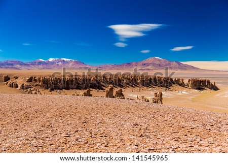 Salar Tara, Atacama - stock photo