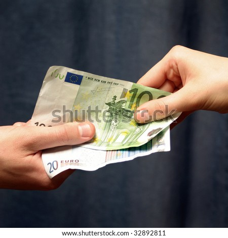 Salary by euro - stock photo