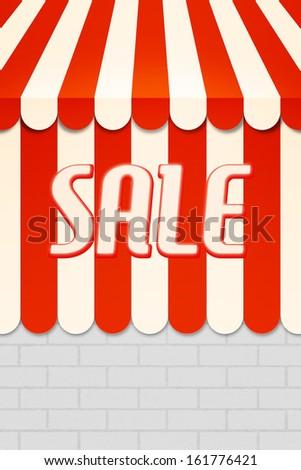 Sale Awning - stock photo