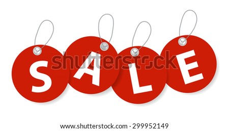 Sale Banner with Place for Your Text.  Illustration