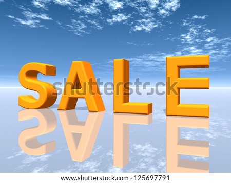 Sale Computer generated 3D illustration