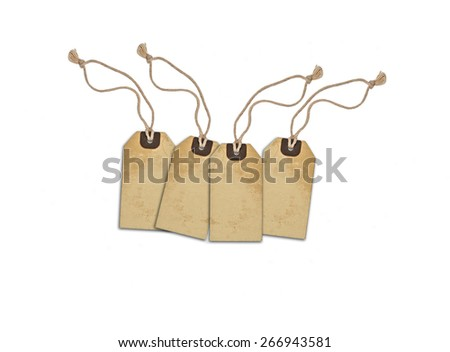 Sale concept, formed of textured blank tags; great for shopping, sales, advertising, discounts and promotion.  - stock photo