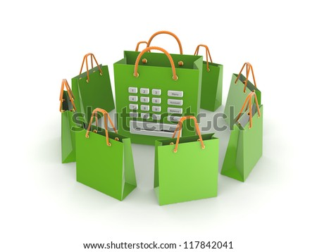 Sale concept.Isolated on white background.3d rendered. - stock photo