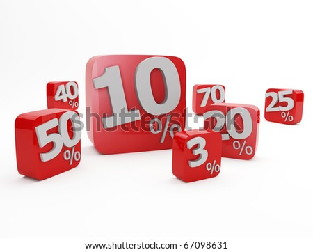 sale cubes isolated