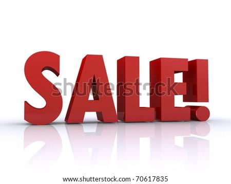 sale 3d text - stock photo