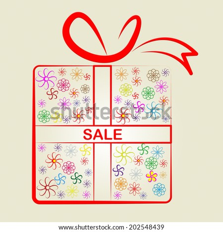 Sale Gifts Representing Promotional Promotion And Package - stock photo
