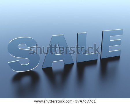 Sale glass text