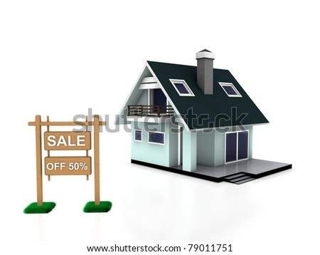 sale home - stock photo