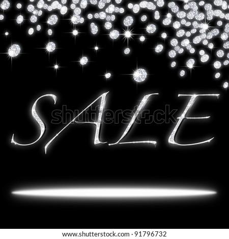 sale icon ,design by diamonds - stock photo