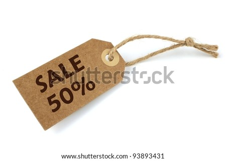 Sale label 50% - stock photo