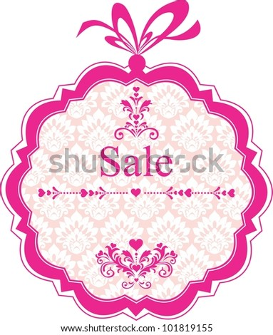 Sale Label. Background with place for your text.  Illustration - stock photo