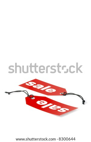 Sale labels isolated on white - stock photo