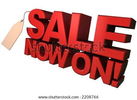 Sale Now On! - stock photo
