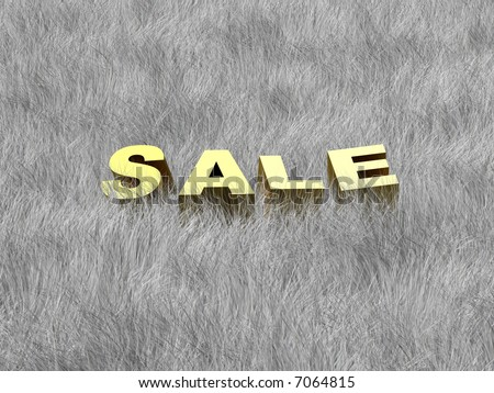 Sale of a Winter collection. Business offer. Sale at the grey grass. Creative concept.