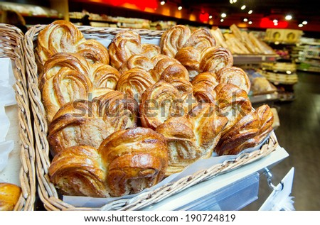 sale of biscuits with sugar and store in the bazaar - stock photo