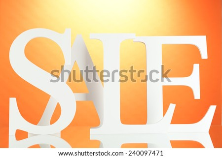 Sale on colorful background