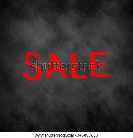 Sale over board background concept:chalkboard with message Sale for advertising concept:abstract blackboard for business commercial conceptual. - stock photo