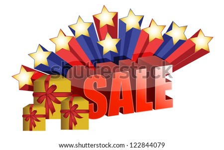 sale promo illustration design over a white background