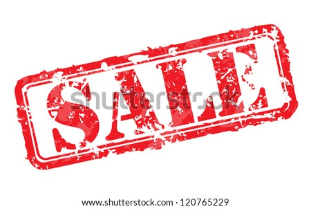 Sale rubber stamp - stock photo