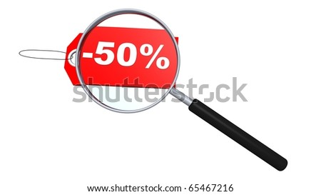 Sale search - stock photo