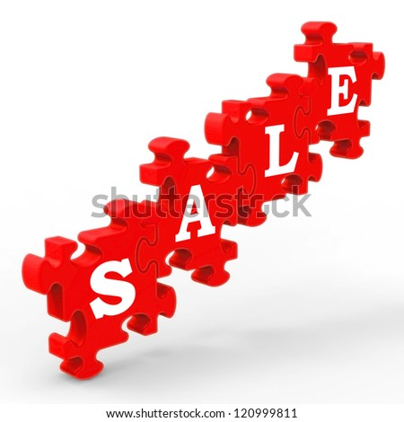 Sale Showing Symbol For Discount And Promotions