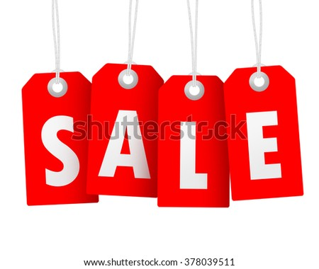 Sale special offer sticker isolated red
