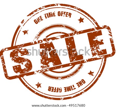 Sale stamp - stock photo