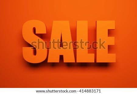 sale symbol, 3d rendering - stock photo