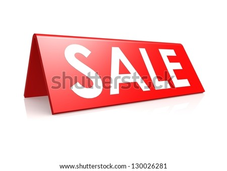 Sale tag in red - stock photo