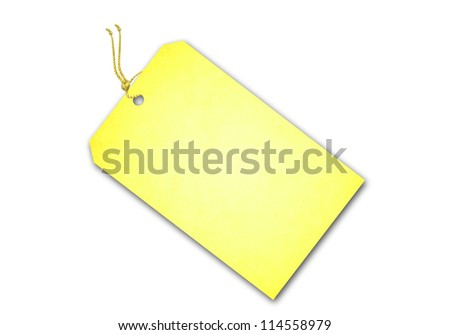 Sale Tag Isolated On White