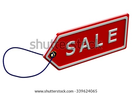 Sale tag , isolated on white background.