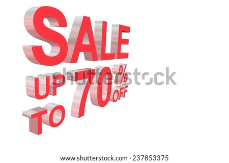 Sale tag with 3D red letter