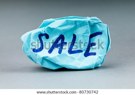 Sale word on paper