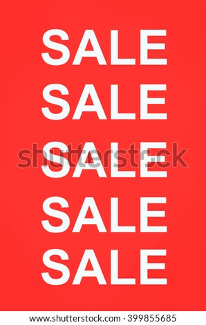 Sale word on red background - stock photo