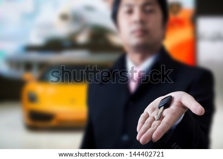 Sale you car - stock photo