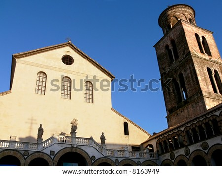 Salerno the cathedral of holy apostle Matthew - stock photo