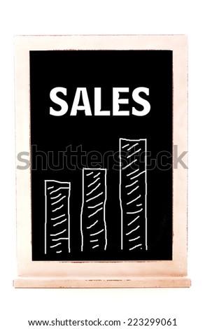 Sales Chart - stock photo