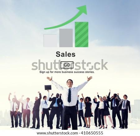 Sales Commerce Costs Income Profit Retail Concept - stock photo