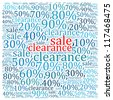 Sales discount info text graphics and arrangement - stock
